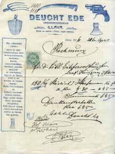 Vyúčtovanie zroku 1916