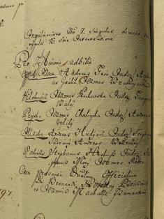 Richtári zilavskej farnosti, 1797