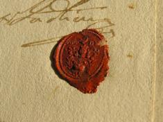 Pečať zkanonickej vizitácie, 1797