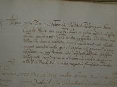 Záznam prechode rákociho vojsk Ilavou, 1708