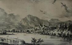 Ilavský hrad v19. storočí