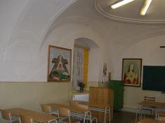 Pôvodné trinitárske oratórium nadsakristiou kostola