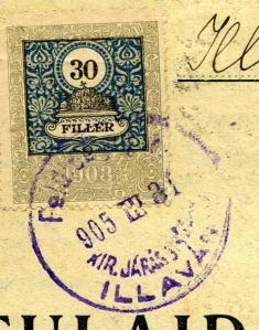 Pečiatka okresného súdu r. 1905