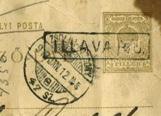 Poštová pečiatka zr. 1916