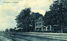 Železničná stanica okolo roku 1920